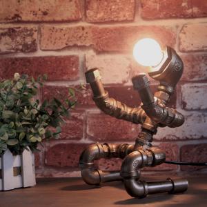 Robot Steampunk lampa Modell 6