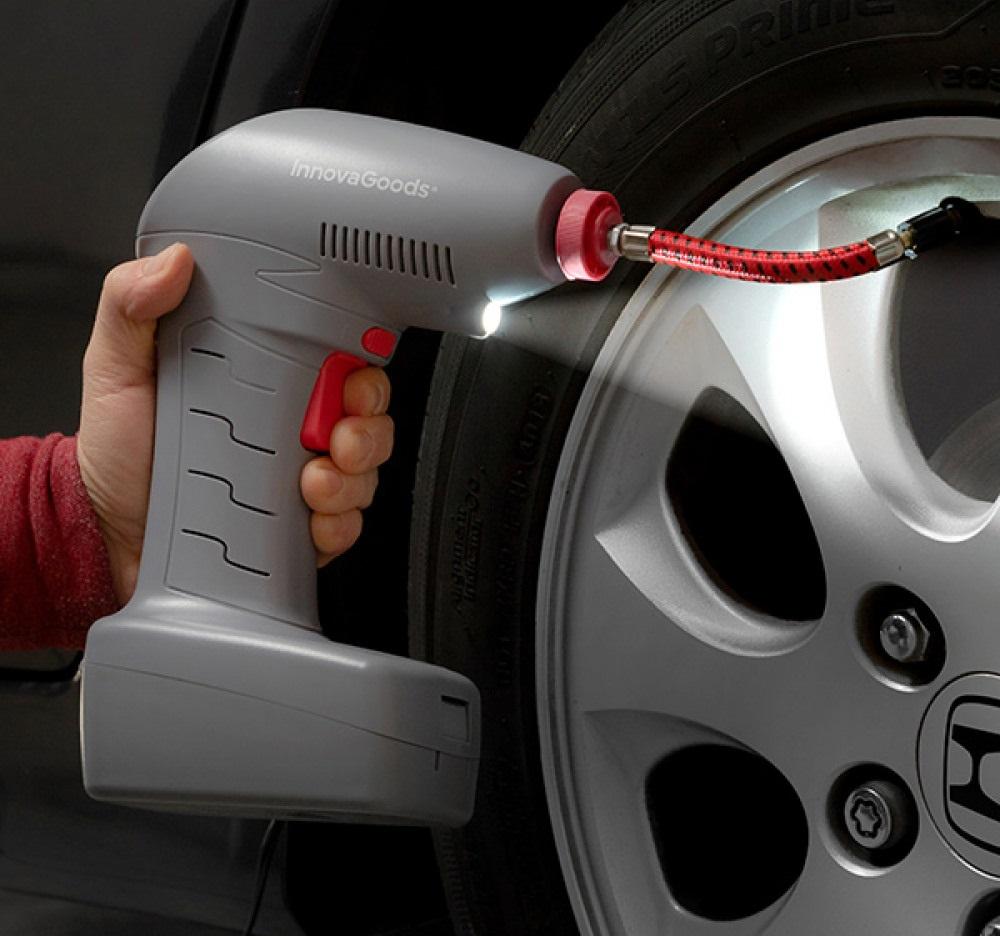 Bärbar Luftpump med LED Airpro+