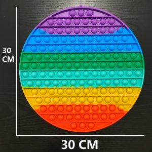 Popit Fidget Rainbow Rund 30 cm