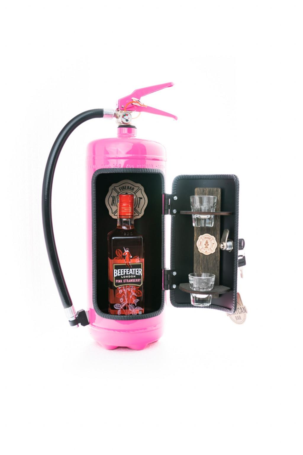 Minibar brandsläckare - Firebar Rosa
